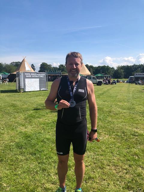 Steve Rastall igroup MD, successfully completes Cholmondeley Triathlon